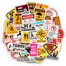 50PC Lots Warning Stickers Danger Waterproof Decal Sticker to DIY Laptop Luggage