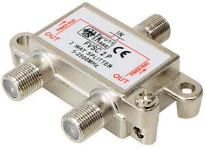 2-fach SAT Verteiler Splitter 5-2500MHz digital Kabel TV DVB-T HDTV UKW