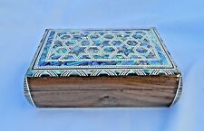 "Egyptian Inlaid Paua Shell Jewelry Box  6.5""X 4.5""  Stars Design # 534"