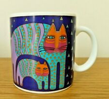 More details for mr jio's cat mug by laurel burch 1991 collectable 14oz not microwavable htf