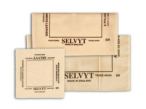 """Jewelry Polishing SELVYT CLEANING CLOTH Cleaner 5"""" For Gold Silver Crystal Brass"""