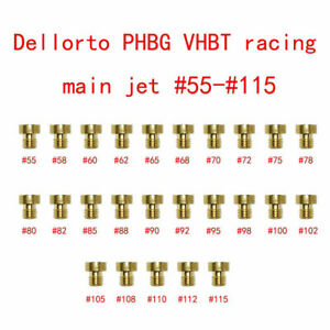 For Dellorto PHBG VHBT racing Carburetor 25Pcs 5MM M5 Main Jets Set 55-115