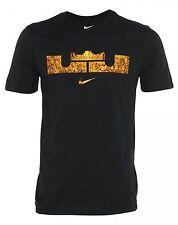 Nike Lebron Foundation Lion T-Shirt Mens 659699-010 Black Dri-Fit Tee Size L