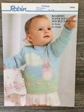 "Robin Knitting Pattern: Baby Bunny Design Sweater, DK, 18-22"", 13603"