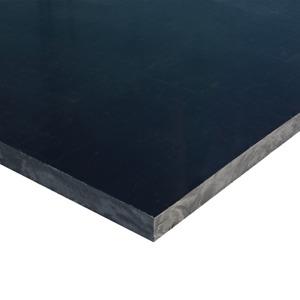 "Black HDPE Plastic Sheet 1/8"" x 24"" x 48"" High Density Polyethylene Smooth"