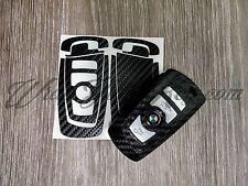 BLACK CARBON Fiber Key Fob Sticker Decal Overlay FITS ALL BMW F SERIES / M Sport
