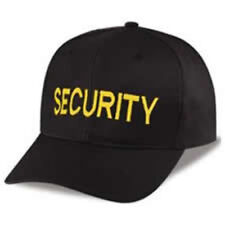 SECURITY Awesome black baseball cap, Quality Embroidery, Gift Idea