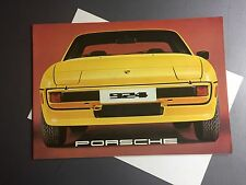 1977 Porsche 924 DELUXE Showroom Sales Brochure RARE Awesome L@@K