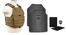 Body Armor | Bullet Proof Vest | AR500 Steel Plates Base Frag Coat 10x12 6x6 TAN