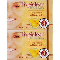 2 Pack Topiclear Lemon Soap Skin Face Body Cleanser Jabon Limon Piel Cara Cuerpo