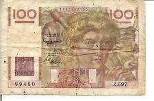 FRANCE 100 FRANCS, 1954