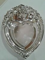 Baroque by Wallace Silver 727 Vintage Dish Heart Shaped (Buffums)
