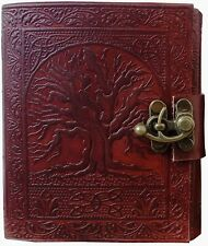 Tree Of Life Journal Leather Handmade Diary C Lock Notebook Gifts Book Men Women