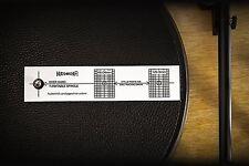HC Turntable Phonograph LP Phono Cartridge Stylus Alignment Protractor Tool USA