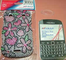 Full Bling hard shell case BlackBerry Bold 9930/9900, Hearts & Flowers design