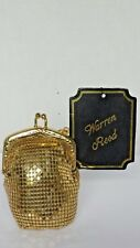 Vintage Change Purse Bag by Walter Reed Gold Tone Metallic Mesh Lined