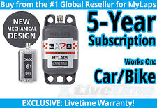 MyLaps X2 Car/Bike Rechargeable Transponder w/ 5-year Subscription -AMB Flex 260