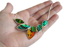 Real Handmade Butterfly Wing Pendant Necklace - Sterling Silver Pendant Necklace