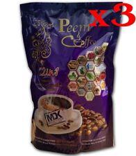 x3 Peem Coffee Herbs 22 in 1 Coffee Sugar Fee Instant Slimming Health Weight.