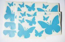 6 tlg. Wandtattoo Wanddeko Wandsticker Aufkleber Sticker Schmetterlinge hellblau