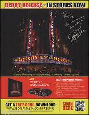 Joe Bonamassa Radio City Music Hall concert advertisement 8 x 11 ad print