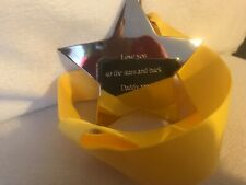 Love you to the stars Daddy - Engraved star medal - Birthday Gift Present