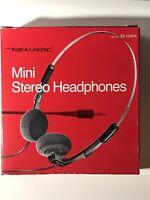 Vintage REALISTIC Mini Stereo Headphones 33-1000A NOVA 34 w/ Original Box