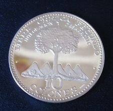 10 Colones Argento 1000 Costa Rica 1970 PROOF