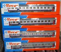 Roco 44350, Roco 3 x 44351 Konvolut Set 4 x Eurofima-Schnellzugwagen SNCB Ep.4/6