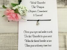 Penguin Wish Bracelet Friendship Gift Card Spirit Animal Symbolism Survival Gift