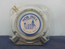 Vintage Nob Hill Casino Las Vegas Nv Clear Glass Ashtray White Blue Decal