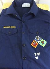 Boy Scouts Cub Scout Uniform Shirt Youth Large Official Blue Short Sleeve