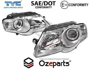 Set / Pair Head Light Lamp Non Zenon For VW VolksWagen Passat B6/3C 05~10