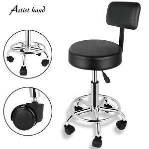 Adjustable Hydraulic Swivel Hair Salon Stool Chair Tattoo Spa Barber w/Backrest