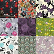 Flower & Floral Wallpaper Range Mixed Designs & Patterns Luxury Modern Motif
