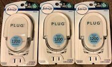 3 Packages Febreze Plug Adjustable Alternating Scented Oil Warmer Burner Unit