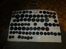 "Vintage HUGE LOT OF 75 JUMBO BUTTONS Carved Bakelite Celluloid Plastic 3/4-2"" VG"