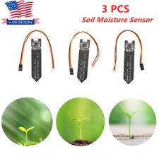 3pcs Capacitive Soil Moisture Sensor Plant Watering Alarm Hygrometer Humidity