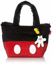 Disney Mickey Mouse Tote bag Red & Black Feather ROO FE.DEL.DSNY-H Japan NEW