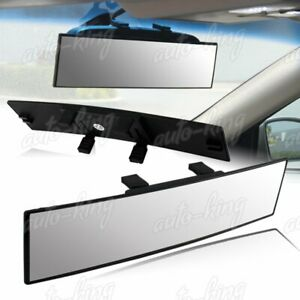 UNIVERSAL JDM CONVEX 300MM WIDE INTERIOR CLIP ON PANORAMIC REAR VIEW MIRROR