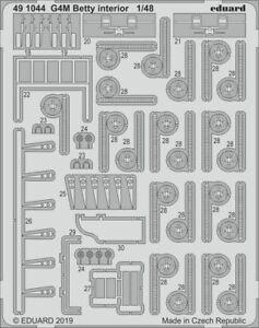 Eduard 1/48 Mitsubishi G4M1 Betty Interior # 491044