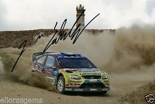 "Rally Driver Jari-Matti Latvala Hand Signed Photo Ford WRC 12x8"" AB"