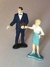 Miss Money Penny + M  figures GILBERT Vintage 1965 James bond 007 Dr NO 1960 '