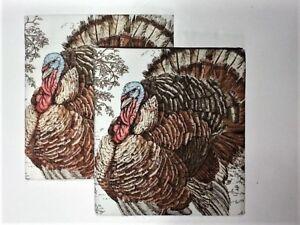"Williams Sonoma Thanksgiving Turkey Towels, Set of 2 (30"" x 20"") 100% Cotton"