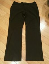 Women's Old Navy career pants solid black stretch 6 ankle rayon blend