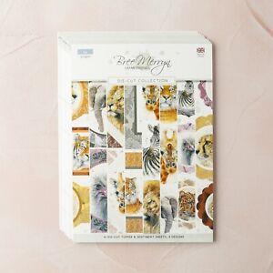 Bree Merryn - A4 Die-Cut Toppers & Sentiments Pad , 16 Sheets , Safari Friends