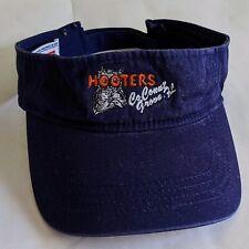 Hooters Coconut Grove, FL Visor Hat Cap Owl Logo Color Blue