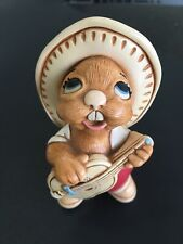 Pendelfin Rabbit Rocky Red Pants With Guitar Hand Painted Stoneware Made England