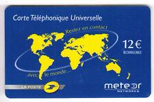 FRANCE  TELECARTE / PHONECARD  PREPAYEE .. 12€ METEOR LA POSTE N°+ MAGNETIQUE