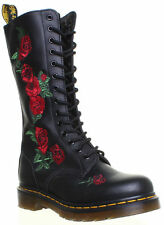 100% Leather Floral Knee High Women's Boots